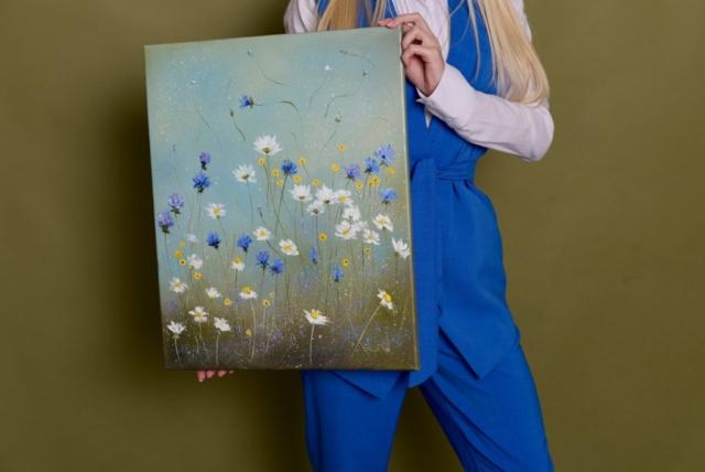 Картина маслом Цветочная феерия