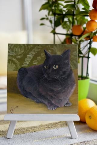 Картина маслом Кошка