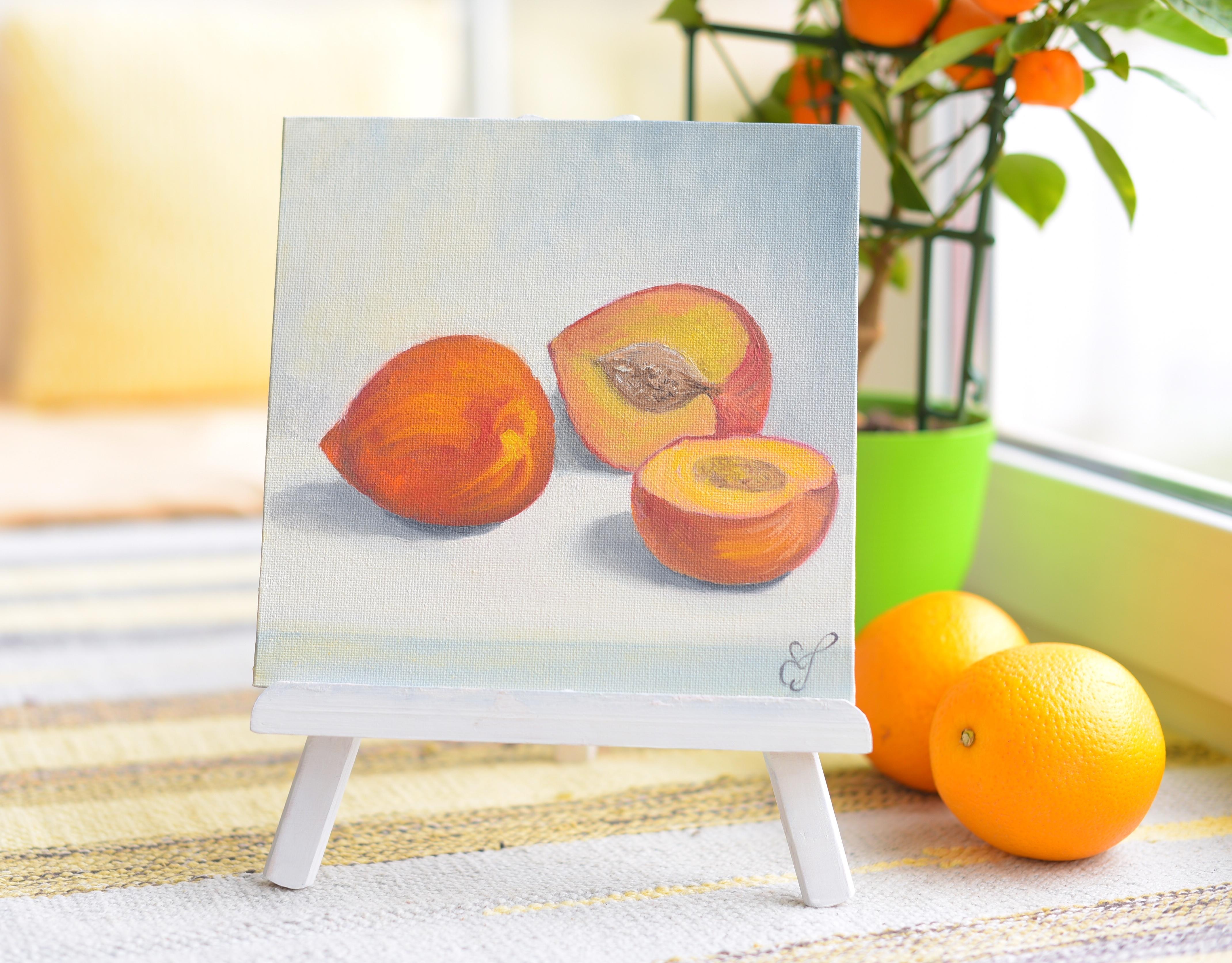 Картина маслом Персики